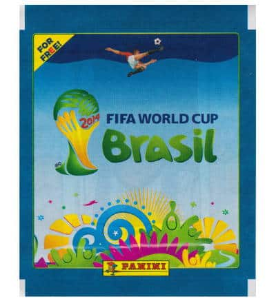 Panini WM Brasil 2014 Tüte Blau - For Free
