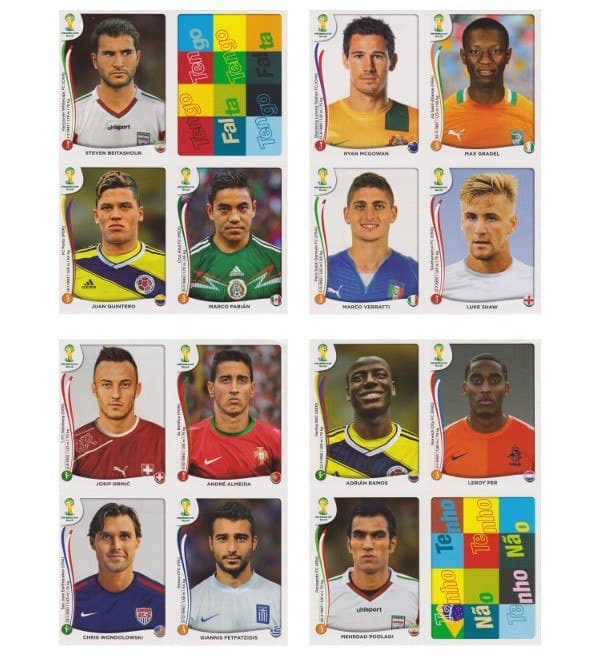 Panini WM 2014 Update Set Belgien - Bögen 5-8