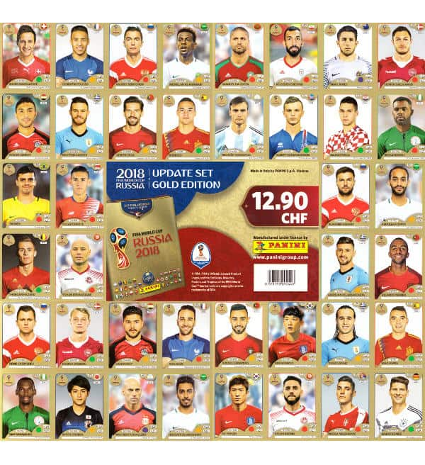 Panini WM 2018 Gold Edition Update Set
