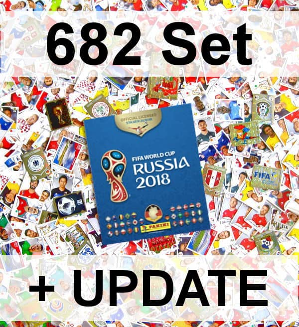 Panini WM 2018 Version 682 - Alle Sticker + Update + Album