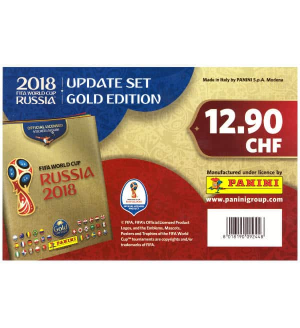 Panini WM 2018 Update Set Gold Edition