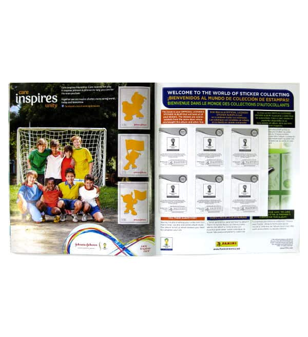 Panini World Cup Brasil 2014 Album USA Johnson & Johnson Sonderseite