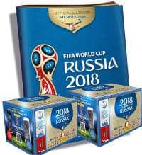 Panini WM 2018 Sticker - 2 Displays + 1 Album