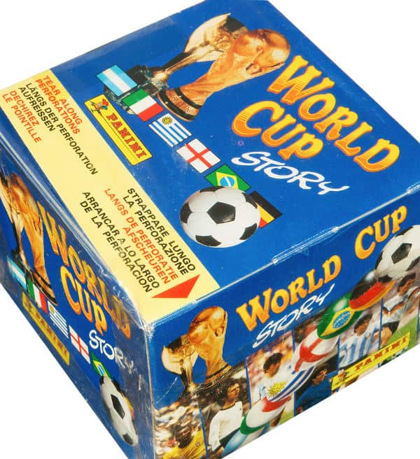 Panini World Cup Story Box - Display von oben