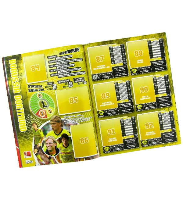 Topps Bundesliga Sticker 2011 / 2012 Album - Inhalt
