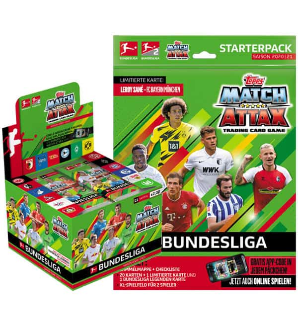 Topps Bundesliga Match Attax 2020/21 - Starterpack + Display mit 36 Tüten