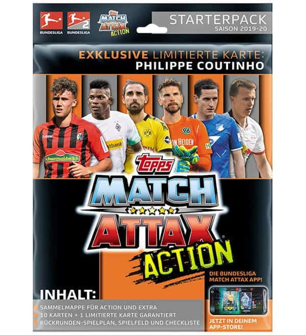 Topps Bundesliga Match Attax Action 2019/20 Starterpack