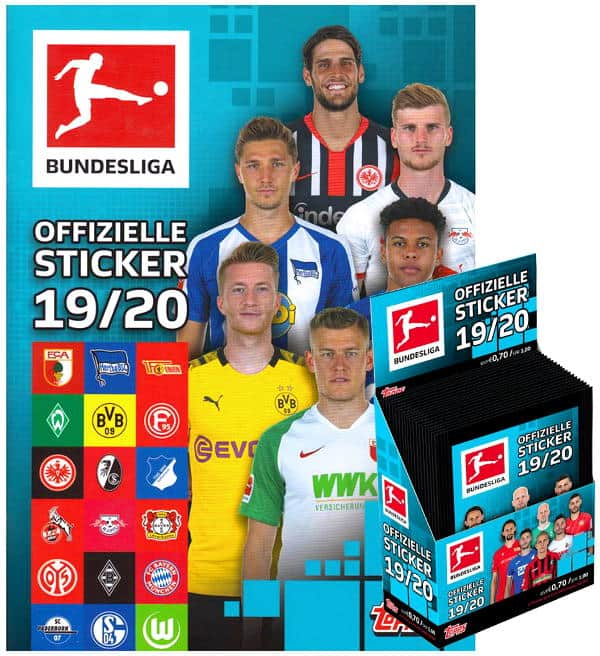 Topps Bundesliga Sticker 2019/2020 - Album + 1 Display