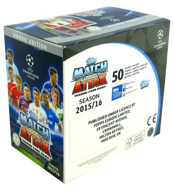 Topps CL Match Attax 2015 / 2016 Nordic Edition - Box 300 Kartem