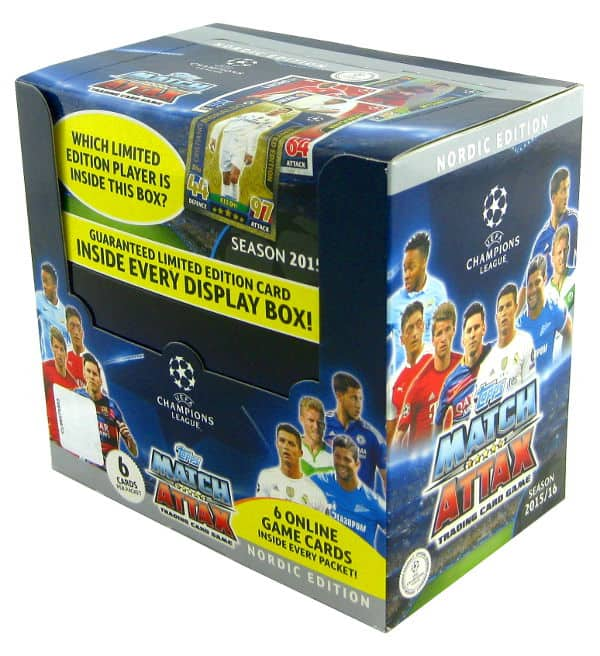 Topps CL Match Attax 2015 / 2016 Nordic Edition - Box 50 Tüten