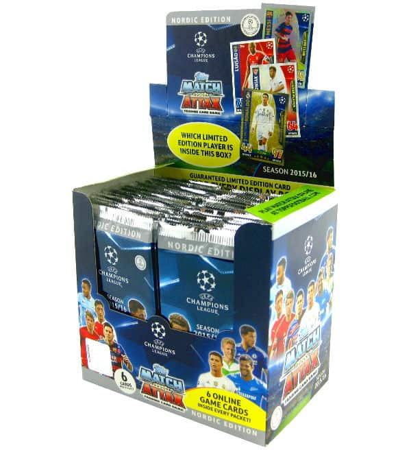 Topps CL Match Attax 2015 / 2016 Nordic Edition Display