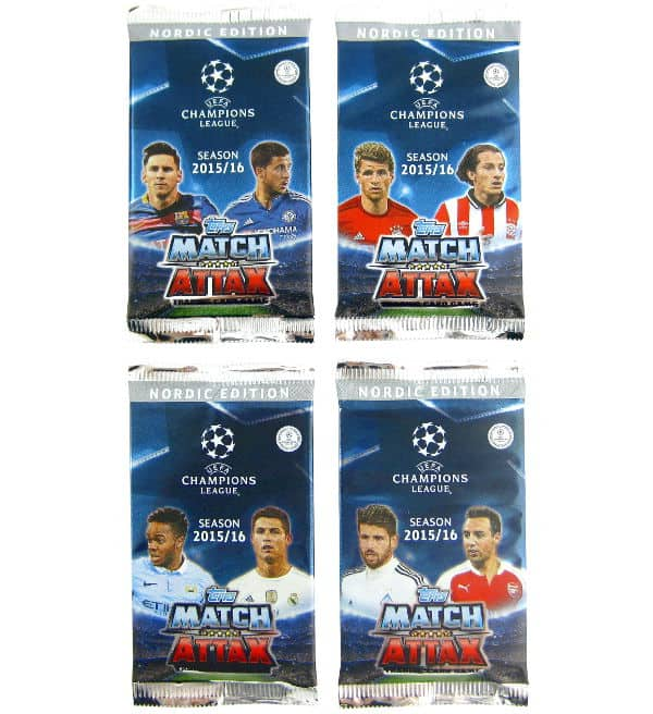 Topps CL Match Attax 2015 / 2016 Nordic Edition Tüten