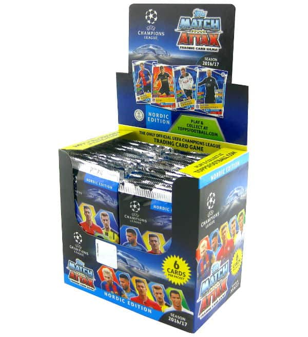 Topps CL Match Attax 2016 / 2017 Nordic Edition Display