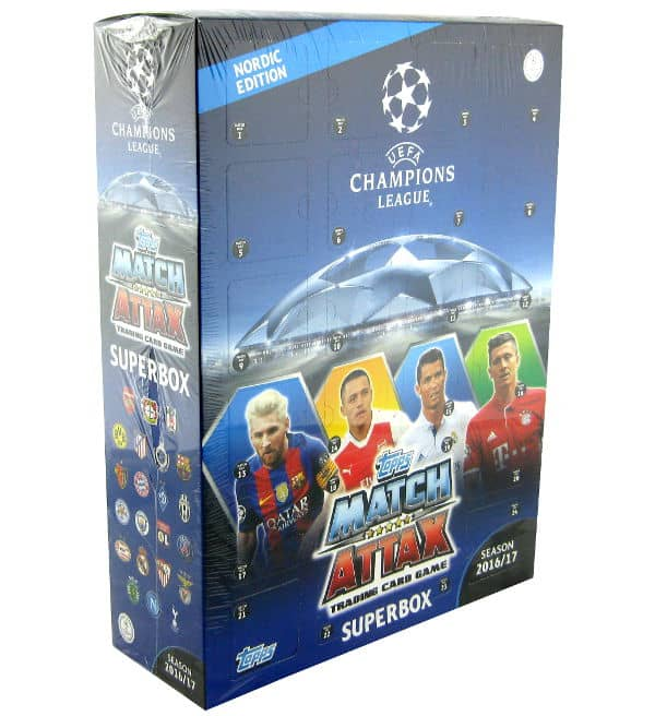 Topps Champions League Match Attax 2016 / 2017 Nordic Edition Superbox