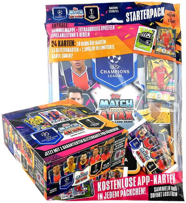 Topps Champions League Match Attax 2020/21 Starter Pack + Display