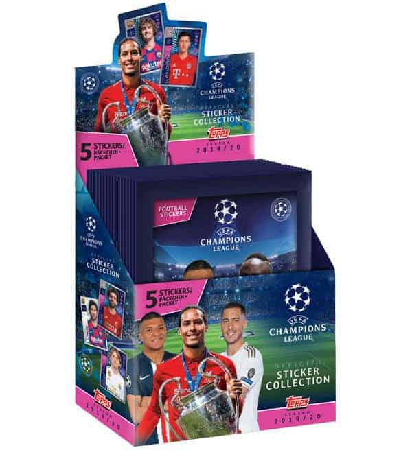 Topps Champions League Sticker 2019 / 2020 Display