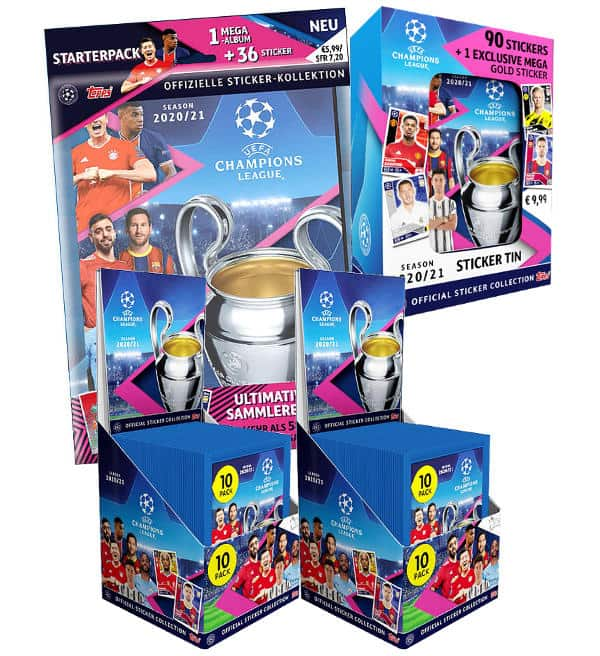 Topps Champions League Sticker 2020/2021 - Mega-Bundle