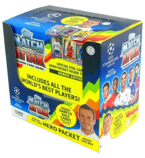 Topps CL Match Attax 2017 / 2018 Nordic Edition Box mit 50 Tüten