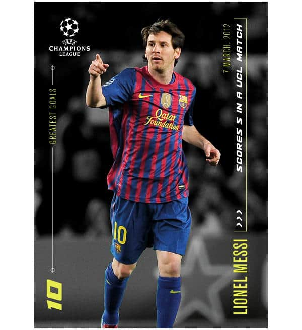 Topps Lionel Messi Moments & Goals  - 5 Goals in a UCL Match