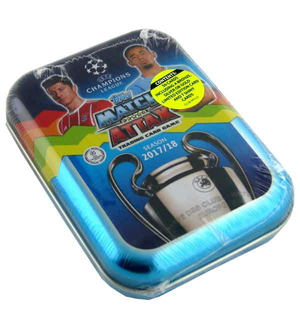Topps Champions League Match Attax 2017 / 2018 Pocket Tin